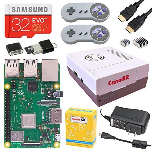 CanaKit Raspberry Pi 3 B+ (B Plus) Retro Gaming Kit with 2 Retro Gamepads