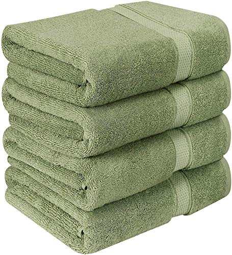 Utopia Towels Luxurious Bath Towels, 4 Pack, Sage Green