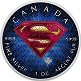 2016 CA BU Canada 5$ Superman 1 oz Colored Suit Precious Bullion 999 Silver Coin $5 Uncirculated BM