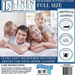 Linen Store Mattress Protector, Full, White