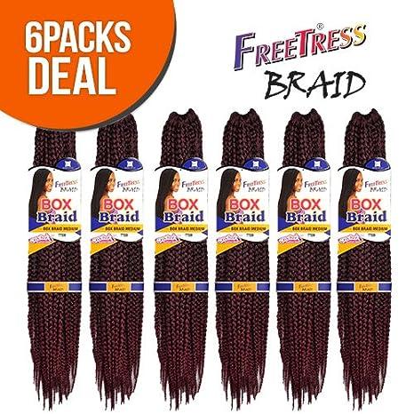 FreeTress Synthetic Hair Crochet Braid Medium Box Braids