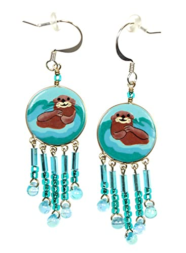 Beaded Sea Otter Earrings