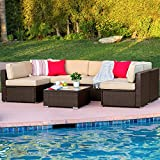 Best Choice Products 7-Piece Modular Outdoor Patio Rattan Wicker Sectional Conversation Sofa Set w/ 6 Chairs,...