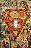Timeless Invites Superman Comic - Light Switch Cover- Superman- Switch Plate Cover