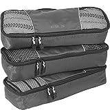 eBags Slim Packing Cubes for Travel - Organizers - 3pc Set - (Titanium)