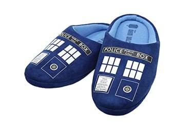 Doctor Who Men's Tardis Slippers (L,11-12)