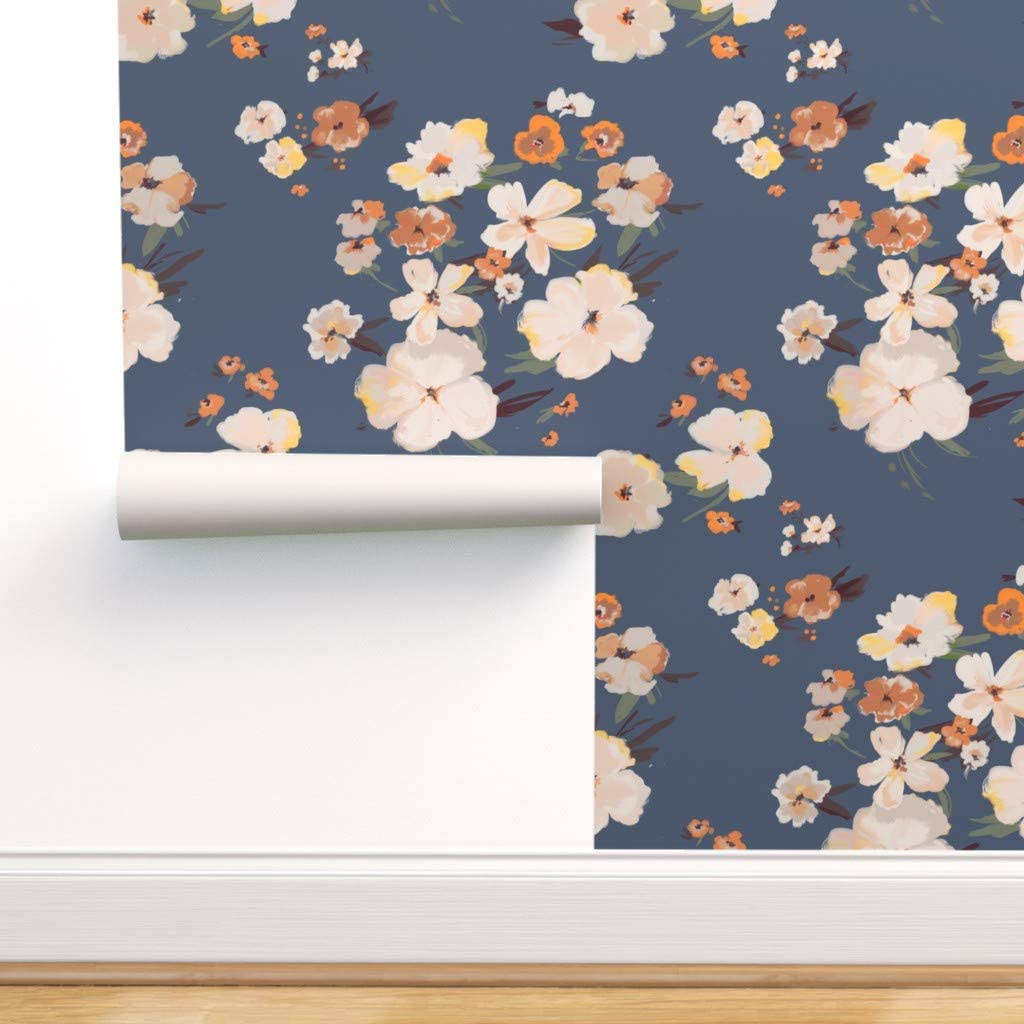 Spoonflower Non Pasted Wallpaper Wildflowers Rustic Farmhouse Modern Floral Soft Pastel Flowers Western Print Swatch 12in X 24in Amazon Com