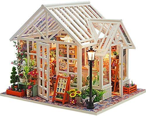 cutebee 3d木製DIYドールハウス木製人形家ミニチュアfor Dollsドールハウス家具キット人形Houses Toys for Children