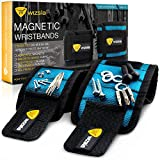 Wizsla Magnetic Wristband for Holding Screws, Tools, Set of 2 Sizes, Best Unique Gift for Men, DIY...