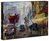 Thomas Kinkade DC - Batman, Superman and Wonder Woman 10 x 14 Gallery Wrapped Canvas