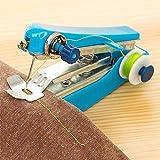 Iulove Portable Needlework Cordless Mini Hand-Held Clothes Fabrics Sewing Machine