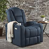 Christopher Knight Home 302044 Everette Power Motion Recliner, Navy Blue