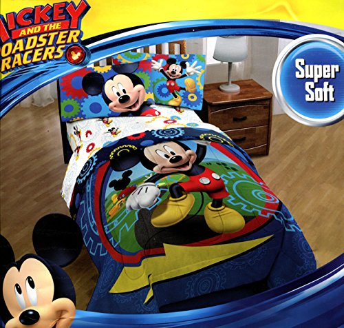 Mickey Mouse Clubhouse Twin Comforter & Sheet Set (4 Piece Bed In A Bag) + HOMEMADE WAX MELT