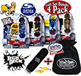 Tech Deck 96mm Individual Fingerboards Gift Set Party Bundle with Bonus Exclusive 'Matty's Toy Stop' Storage Bag - 4 Pack (Assorted Styles)