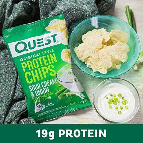 Quest Nutrition Protein Chips, Sour Cream & Onion, Pack of 12 8