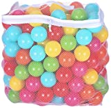 BalanceFrom 2.5-Inch Phthalate Free BPA Free Non-Toxic Crush Proof Play Balls Pit Balls- 6 Bright Colors in Reusable and Durable Storage Mesh Bag with Zipper (200-Count)