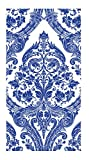 Ideal Home Range 16-Count 3-Ply Paper Guest Towel Napkins, Blue Grandeur