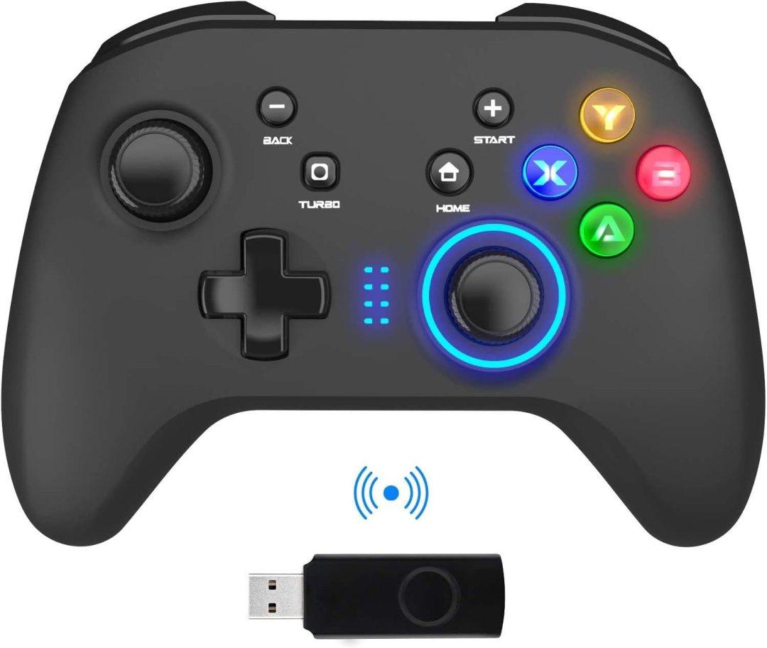 BIMONK Manette PC sans Fil, Manette du Contrôleur de Jeu Filaire avec Double Vibration, Compatible pour PS3, Switch, Windows 10/8/7, PC, Laptop, TV Box, Android