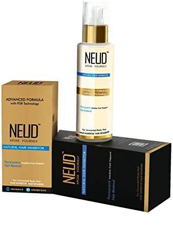 Amazon Com Neud Hair Inhibition  Natural Hair Removal Cream Gms Beauty