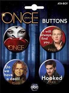 Ata-Boy Once Upon a Time Assortment #3 4 Button Set