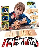 Liberty Imports DIY Deluxe Foam Wood Kids Construction Tool Workshop Kit
