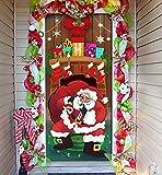 Joiedomi Christmas Santa with Gifts Window Door...
