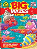 School Zone - Big Mazes and More Workbook - Ages 6 to 8, 1st Grade, 2nd Grade, Learning Activities, Games, Puzzles, Problem-Solving, and More (School Zone Big Workbook Series)