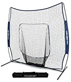 PowerNet Team Color Baseball Softball 7x7 Hitting Net w/Bow Frame (Navy)