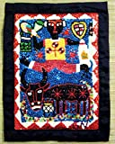 CORAL REEF CREATIONS Haitian Man with Bossou and Damballa Vodou or Voodoo Flag (Wall Tapestry)