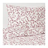 IKEA Hassleklocka Duvet Cover and Pillowcases White Pink 003.902.78 King