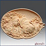 Thanksgiving Turkey Platter - Detail of High Relief Sculpture - Silicone Soap/polymer/clay/cold Porcelain Mold