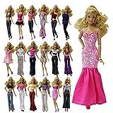 ZITA ELEMENT LOT 10= 5 set Handmade Blouse + Trousers Pants mix dress Outfit Casual Wear +5 shoes for Barbie Clothes / Barbie Clothes