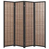 Product review for Decorative Openwork Design Black Wood Framed 4 Panel Folding Screen / Freestanding Room Divider - MyGift
