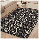Superior Archer Collection Area Rug, 8mm Pile Height with Jute Backing,  Bold Modern Geometric Pattern, Fashionable and Affordable Rugs, 5' x 8' Rug