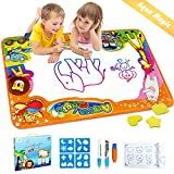 Betheaces Water Drawing Mat Aqua Magic Doodle Kids Toys Mess Free Coloring Painting Educational Writing Mats Xmas Gift for Toddlers Boys Girls Age of 2,3,4,5,6 Year Old 34.5' X 22.5' in 6 Colors