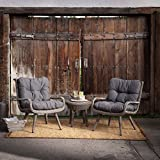 Rio All Weather Wicker Chat Set, Corrosion-Proof Aluminum Frames