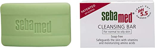 SebaMed Cleansing Bar Soap-Free for Normal to Oily Skin, 100gm