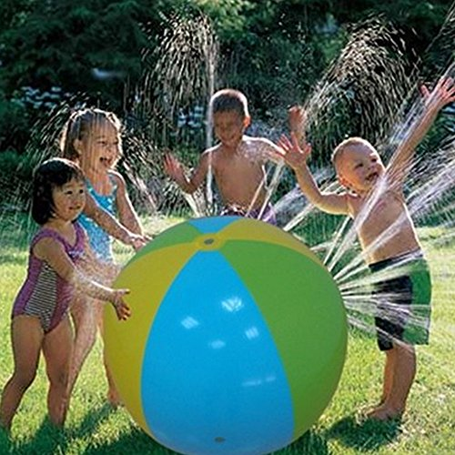 6145sLQStgL Inflatable Water Spray Ball Outdoor Fun Toy for Hot Summer Swimming Party Beach Pool Play Children Kids Beach Ball Sprinkler