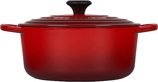 Le Creuset Enameled Cast Iron 5 1 2 Quart Round French Oven Cerise Amazon Ca Home Kitchen