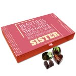 Chocholik Rakhi Gift Box – Sis You are Best Friend Forever Chocolate Box for Sister – 12pc