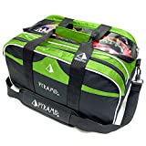Pyramid Path Double Tote Plus Clear Top Bowling Bag (Lime)