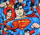 """Polar Fleece Fabric Anti Pill Prints Large Superman Packed / 60"""" Wide/Sold by The Yard S-539"""