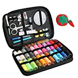Portable Sewing Kit with 96-in-1 Basic Sewing Supplies (22 Spools of XL Thread, Needles, Scissors, Thimble, Buttons, Tape Measure and More) Premium Sewing Tools DIY for Home, Travel and Emergency Use