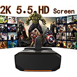 """Speed-YY 3D VR All in One HD Virtual Reality 360 Viewer 2K 2560x1440 HD 5.5"""" Screen Android 5.1 Virtual Reality System HDMI Input Headset Glasses Video Movie Player with"""