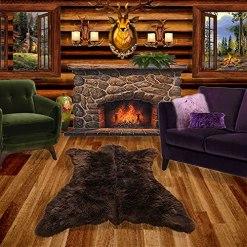 Bear Skin Faux Fur Rug