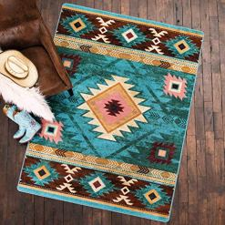 Diamond Creek Turquoise Rug - 8 x 11