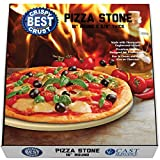 Pizza Stone for Best Crispy Crust Pizza, The Only Stoneware with Thermarite (Engineered Tuff Cordierite). Durable, Certified Safe, Ovens & Grills 16 Round, Bonus Recipe Ebook & Free Scraper