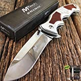 8.5' Silver MTECH XTREME Ballistic Spring Assisted Open TACTICAL Pocket Knife Carbon Sharp Blade. + Free eBook By SURVIVAL STEEL