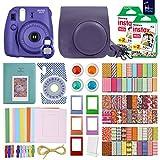 FujiFilm Instax Mini 8 Camera Grape + 40 Instax Film + Accessories KIT for FujiFilm Instax Mini 8 Includes: Case Frames + 64 Page Photo Album + Selfie Lens + Colored Filters + More