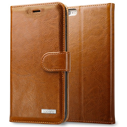 Labato Natural Leather Phone Case, Vintage Brown
